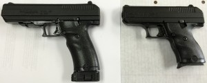 Hi-Point pistols in 40 S&W and 9mm. The JCP 40 SW (MSRP $199) and C-9 (MSRP $189).